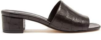 Maryam Nassir Zadeh Sophie crocodile-effect leather mules