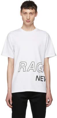 Rag & Bone White Wrap Around Logo T-Shirt