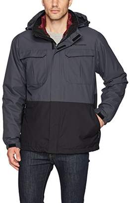 Free Country Men's Colorblock 3-in-1 Systems Jacket with Puffer Inner