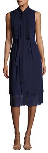 MICHAEL Michael KorsMichael Kors Sleeveless Pleated Dress
