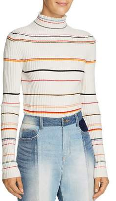 Sjyp Striped Turtleneck Sweater