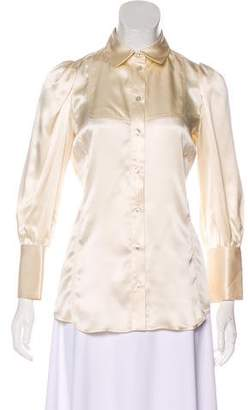 Just Cavalli Silk Button-Up Top