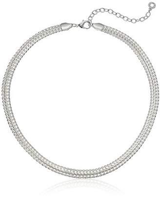 Anne Klein Classics Tone 17-Inch Flat Collar Chain Necklace