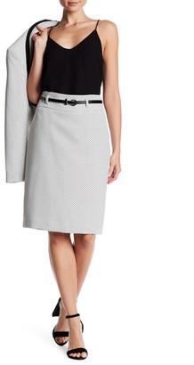 Nine West Belted Tweed Slim Skirt $79 thestylecure.com