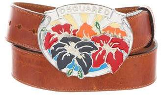 DSQUARED2 Embellished Buckle Belt w/ Tags
