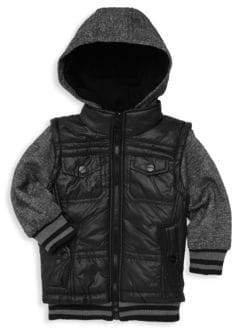 Urban Republic Baby Boy's Quilted Vest Hoodie