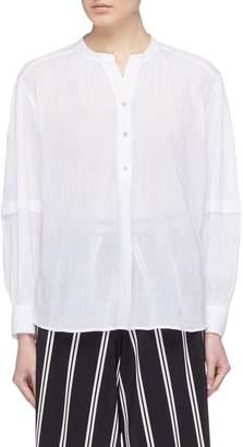Vince Blouson sleeve cotton crépon poet blouse