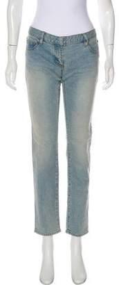 Balmain Low-Rise Straight-Leg Jeans w/ Tags