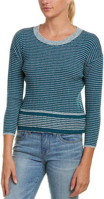James Perse Vintage Stripe Wool-Blend Sweater