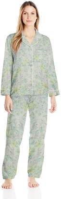 Miss Elaine Women's Brushed Back Satin Pajamas