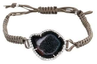 Kimberly McDonald 18K Geode & Diamond Cord Bracelet