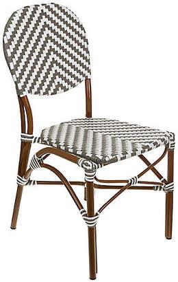Tiab Inc. Café Outdoor Bistro Side Chair - Gray/White
