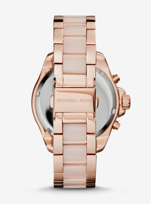 Michael Kors Wren Pave Acetate and Rose Gold-Tone Watch
