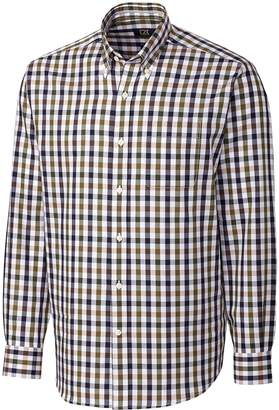 Cutter & Buck Men's Big-Tall Big and Tall Long Sleeve Nolan Plaid Shirt