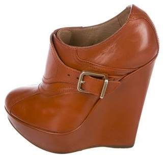 DSQUARED2 Leather Wedge Booties