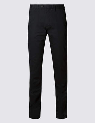 M&S CollectionMarks and Spencer Slim Fit Pure Cotton Chinoswith Stormwear