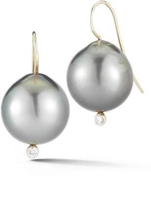 Mizuki Diamond & Pearl Drop Earrings