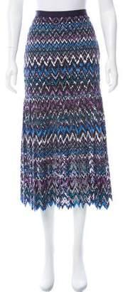Saloni Patterned Midi Skirt