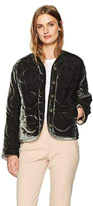 Rebecca Taylor Women's Quilted Velvet Coat