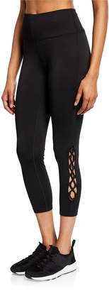 Nanette Lepore Play Basket Macrame High-Rise Leggings