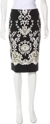 Samantha Sung Floral Print Knee-Length Skirt