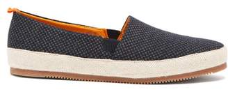 Mulo - Floral Patterned Canvas Espadrilles - Mens - Navy