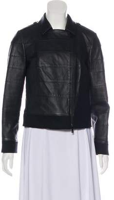 Tory Burch Leather Long Sleeve Jacket