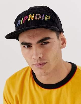 N. Rip Dip RIPNDIP Prisma Corduroy 6 Panel hat in black