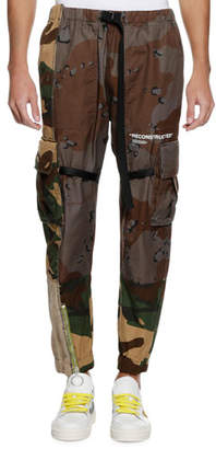 Off-White Men's Reconstructed Camo-Print Cargo Pants