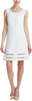 Magaschoni Embossed Check Dress