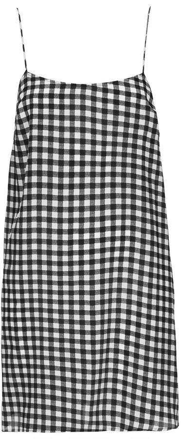 Boutique Gingham strappy slip dress
