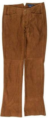 Ralph Lauren Low-Rise Suede Pants