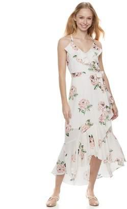 Disney Princess Juniors' Floral Ruffle Midi Dress