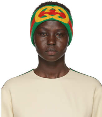 Gucci Green and Red Stripe GG Head Band