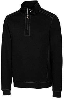 Cutter & Buck Men's Bayview Half-Zip 100% Cotton Pullover