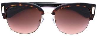Bulgari rectangle frame sunglasses