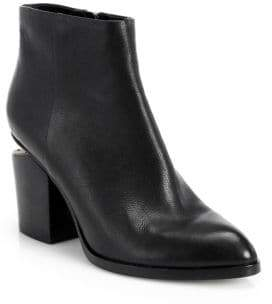 Alexander Wang Women's Gabi Leather Almond Toe Booties - Black - Size 35 (5)