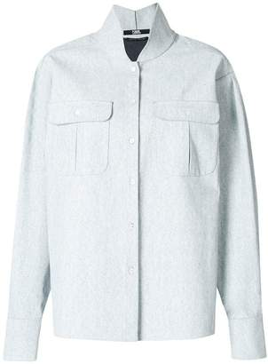 Karl Lagerfeld long-sleeve fitted shirt