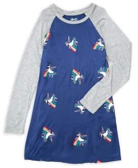 Flowers by Zoe Girl's Long-Sleeve Unicorn Dress