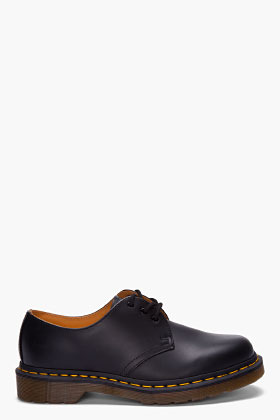 Dr. Martens Black Leather Gibson 3-Eye Shoes