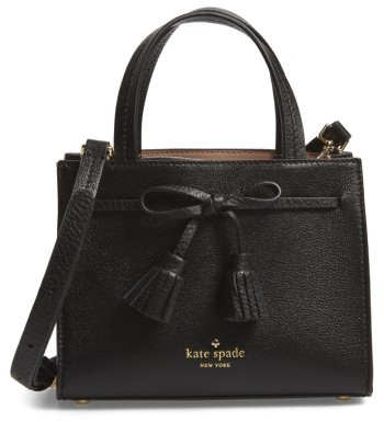 Kate Spade New York Hayes Street Mini Isobel Leather Satchel - Black