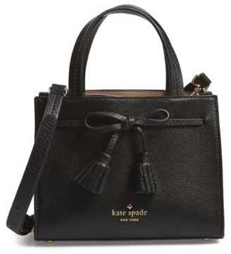 Kate Spade New York Hayes Street Mini Isobel Leather Satchel - Black $278 thestylecure.com
