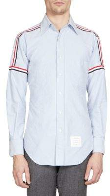 Thom Browne Elastic Stripe Button-Down Shirt