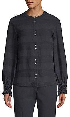 Becken Becken Women's Textured Striped Shirt
