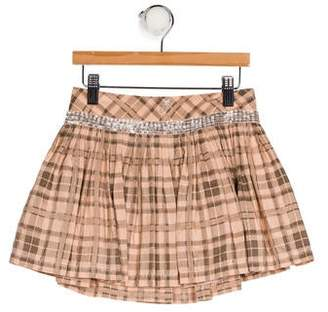 Miss Blumarine Silk Printed Skirt