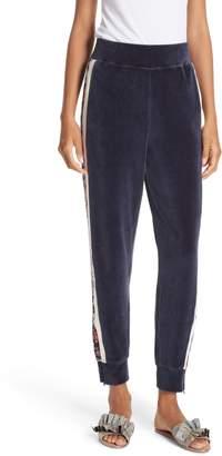 Rebecca Taylor Toile Velour Track Pants