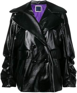 Marco Rambaldi PVC double-breasted jacket
