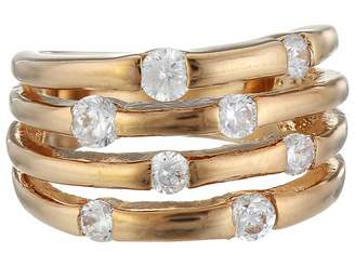 GUESS 4 Band Stone Ring