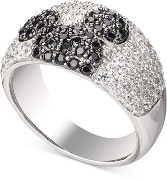 Disney Cubic Zirconia & Black Spinel Mickey Statement Ring in Sterling Silver
