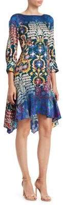 Peter Pilotto Handkerchief Hem Floral Print Dress